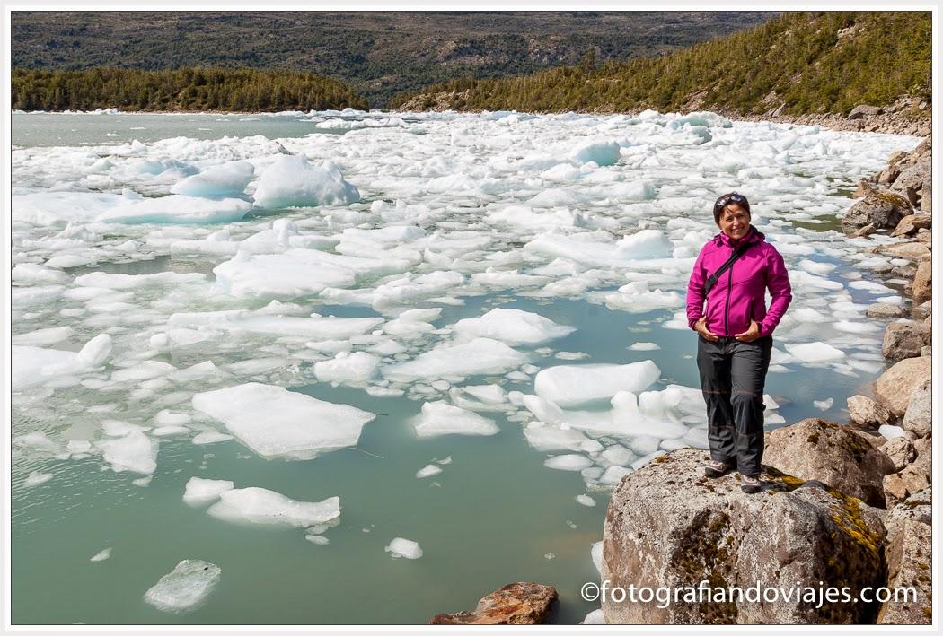 Laguna del Glaciar Serrano en Chile