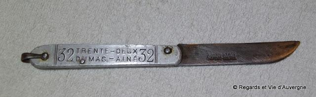 Couteau de poche le 32, Dumas Ainé, Thiers, Auvergne.