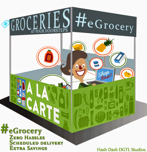 #eGrocery // Groceries at your doorsteps