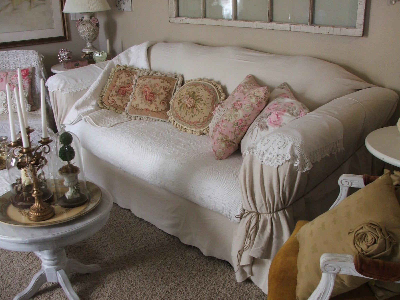 Diy Chair Slipcover No Sew Early Learning Table And Chairs Shabby Jen Slip Cover Just In Time For The Holidays
