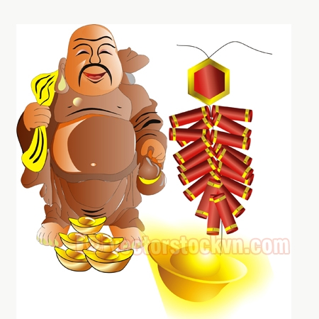 Vector Phật Di Lặc file CDR
