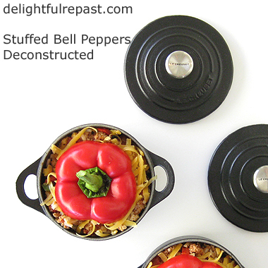 Stuffed Bell Peppers Deconstructed - Unstuffed Bell Peppers / www.delightfulrepast.com