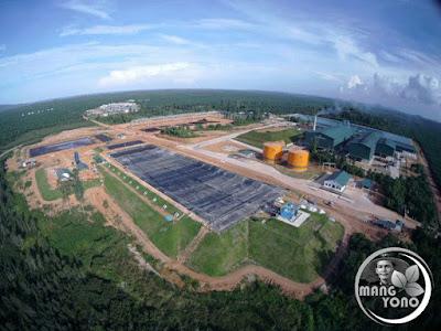 Pembangkit Listrik Tenaga Biogas. Drone biogas site tuing.