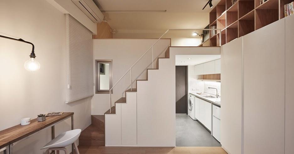 Micro apartamento de 22 m2 com projeto bem bolado