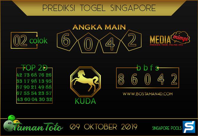 Prediksi Togel SINGAPORE TAMAN TOTO 09 OKTOBER 2019