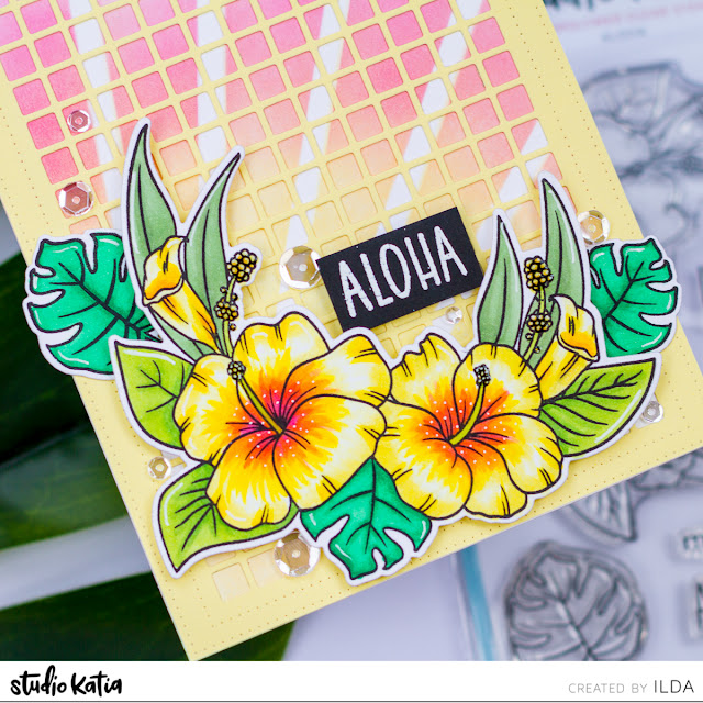 Aloha Friendship Card for Studio Katia by ilovedoingallthingscrafty.com