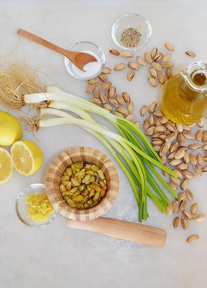 Recipe - Pistachio Dressing - shewandersshefinds.com