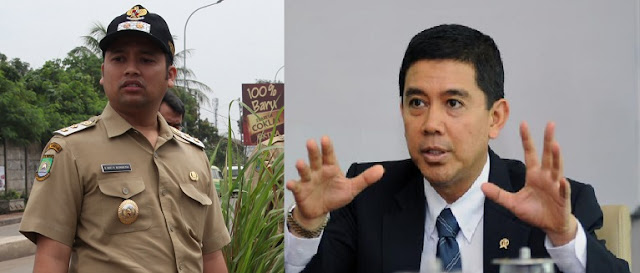 Yuddy Chrisnandi didampingi Walikota Tangerang, Walikota Arief Wismansyah,
