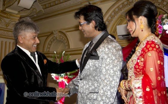 rajesh hamal and madhu bhattarai wedding, bhushan dahal
