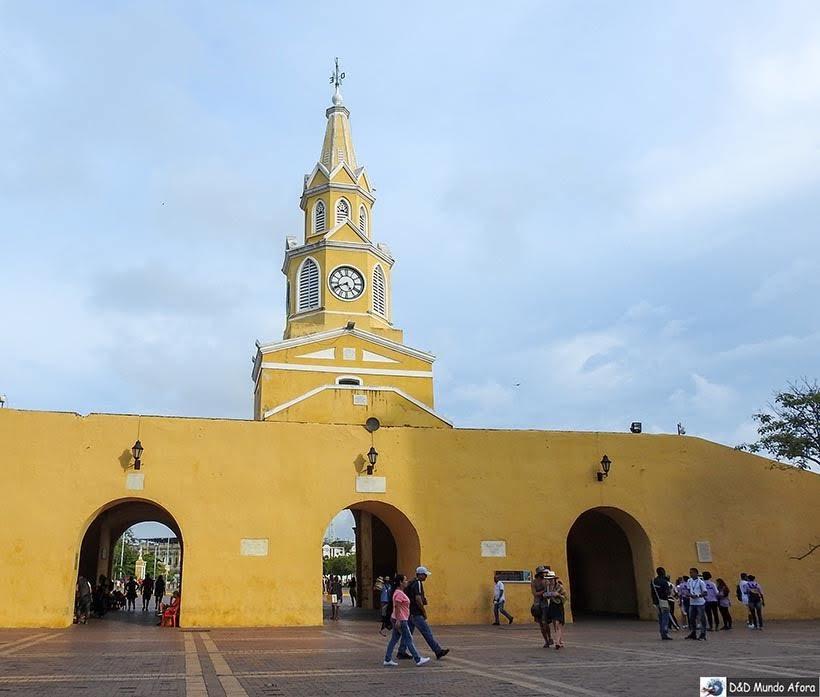 La Puerta del Reloj - Diário de bordo: 4 dias em Cartagena, Colômbia