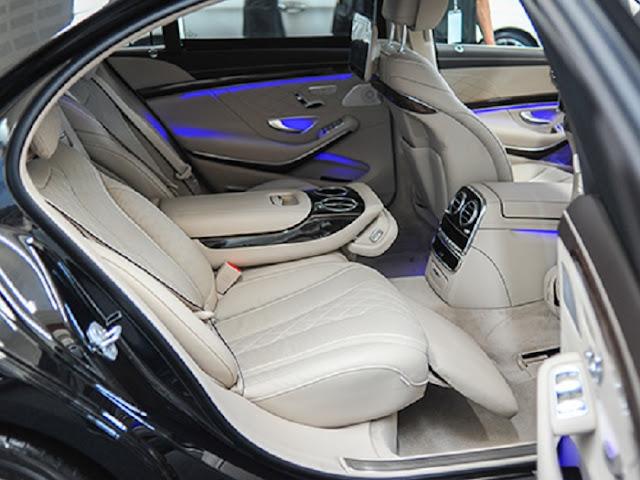 Thiết kế ghế sau Mercedes S500 L 4MATIC rộng rãi với nhiều tiện ích