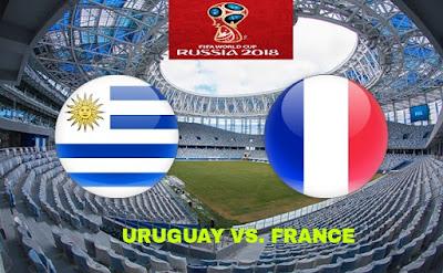 Live Streaming Uruguay vs France Suku Akhir Piala Dunia 6.7.2018