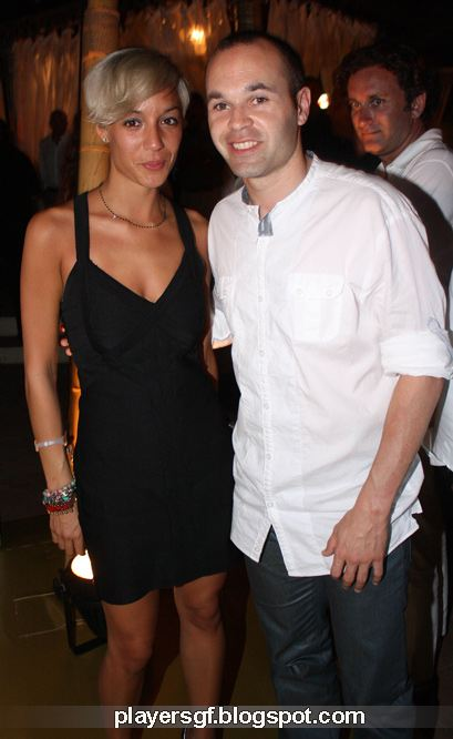 Andre Iniesta and his girlfriend