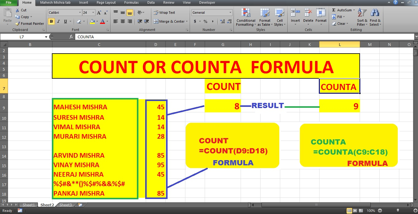 Basic Excel Formulas ~ MAD ABOUT COMPUTER
