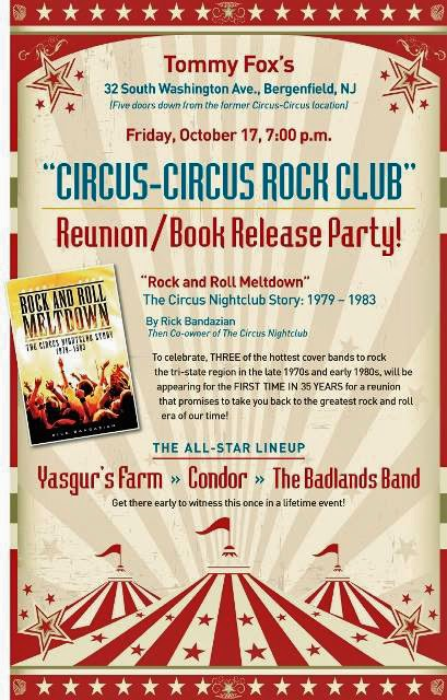 "Book release party by Rick Bandazien ""Rock & Roll Meltdown"" at Tommy Fox's"