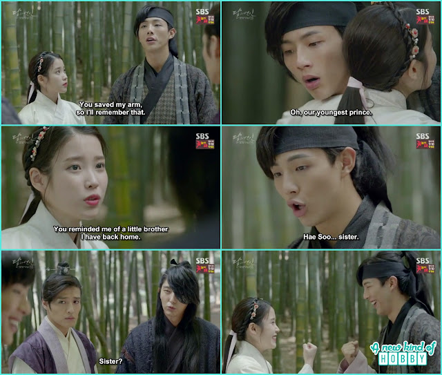 4th prince help sending away the gangsters & hae soo hugged 14th prince  - Moon Lovers: Scarlet Heart Ryeo - Episode 4 Review