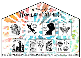 Tutorial: Fabric Stencilled Mini Houses