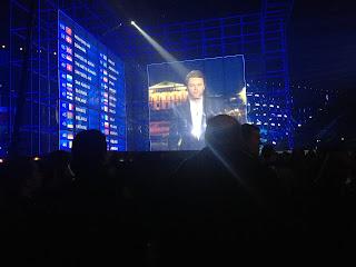 Voting Board bij het Songfestival