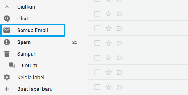 Melihat Semua Email Di Gmail Komputer