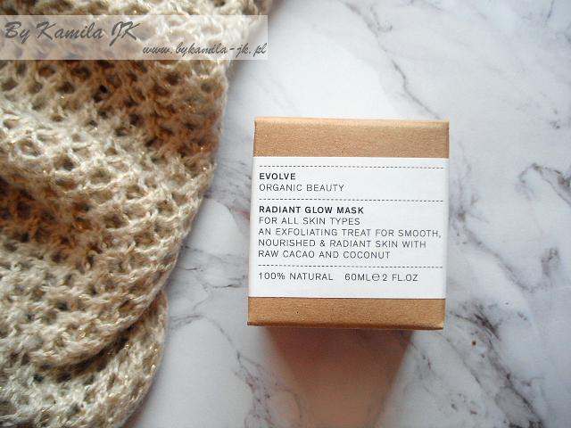 Evolve Organic Beauty rozświetlająca maska do twarzy Radiant Glow Mask kosmetyki organiczne organic cosmetics naturalne