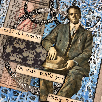 Sara Emily Barker https://sarascloset1.blogspot.com/ Masculine Mixed Media Card With Tim Holtz Products 3