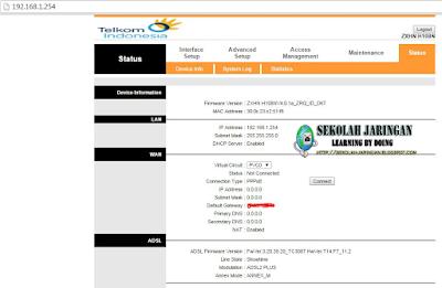 Tutorial Setting Modem Telkom (Indihome / Speedy