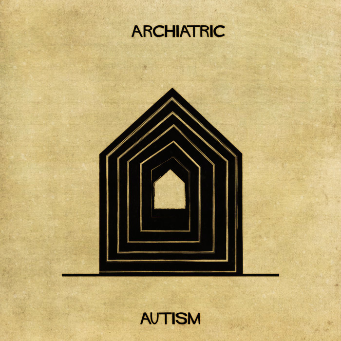 16 Mental Disorders Illustrated Through Architecture - Autism