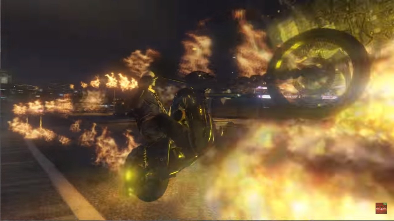 JulioNIB's new mod brings Ghost Rider to GTA V -