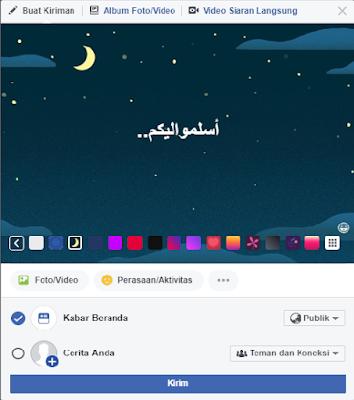 Contoh gambar update status facebook