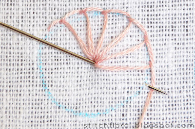 Buttonhole stitch Lesson 3: Filling the shapes