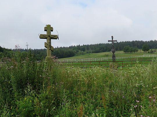Krzyże łemkowskie w Jasionce.