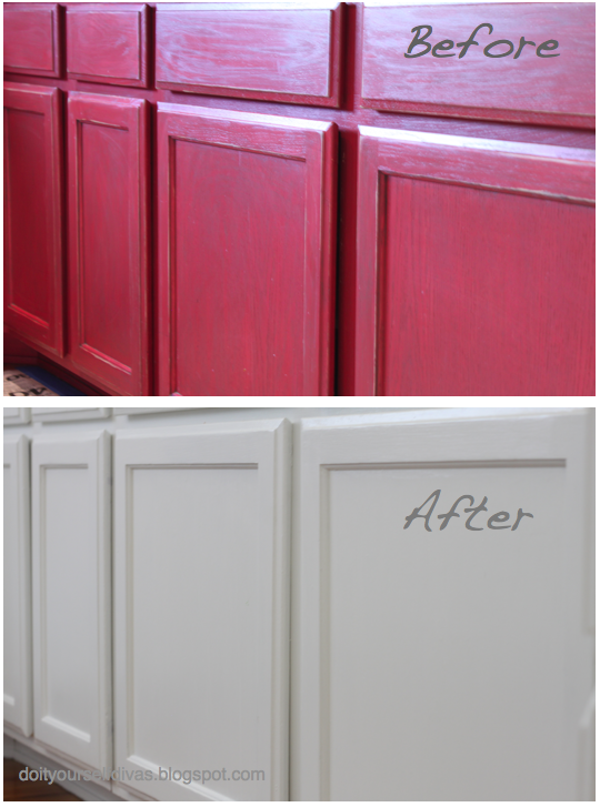 do it yourself divas: DIY: How to Paint Over Red Painted ...
