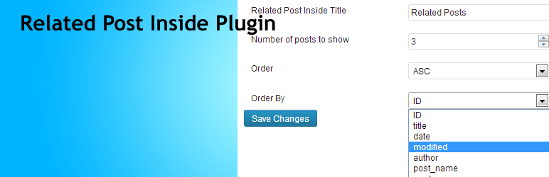 Related Post Inside Plugin