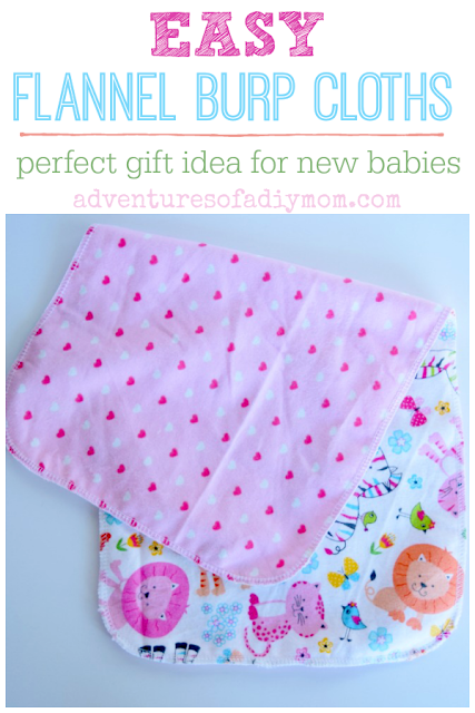 Easy flannel burp cloths - perfect gift idea for new babies