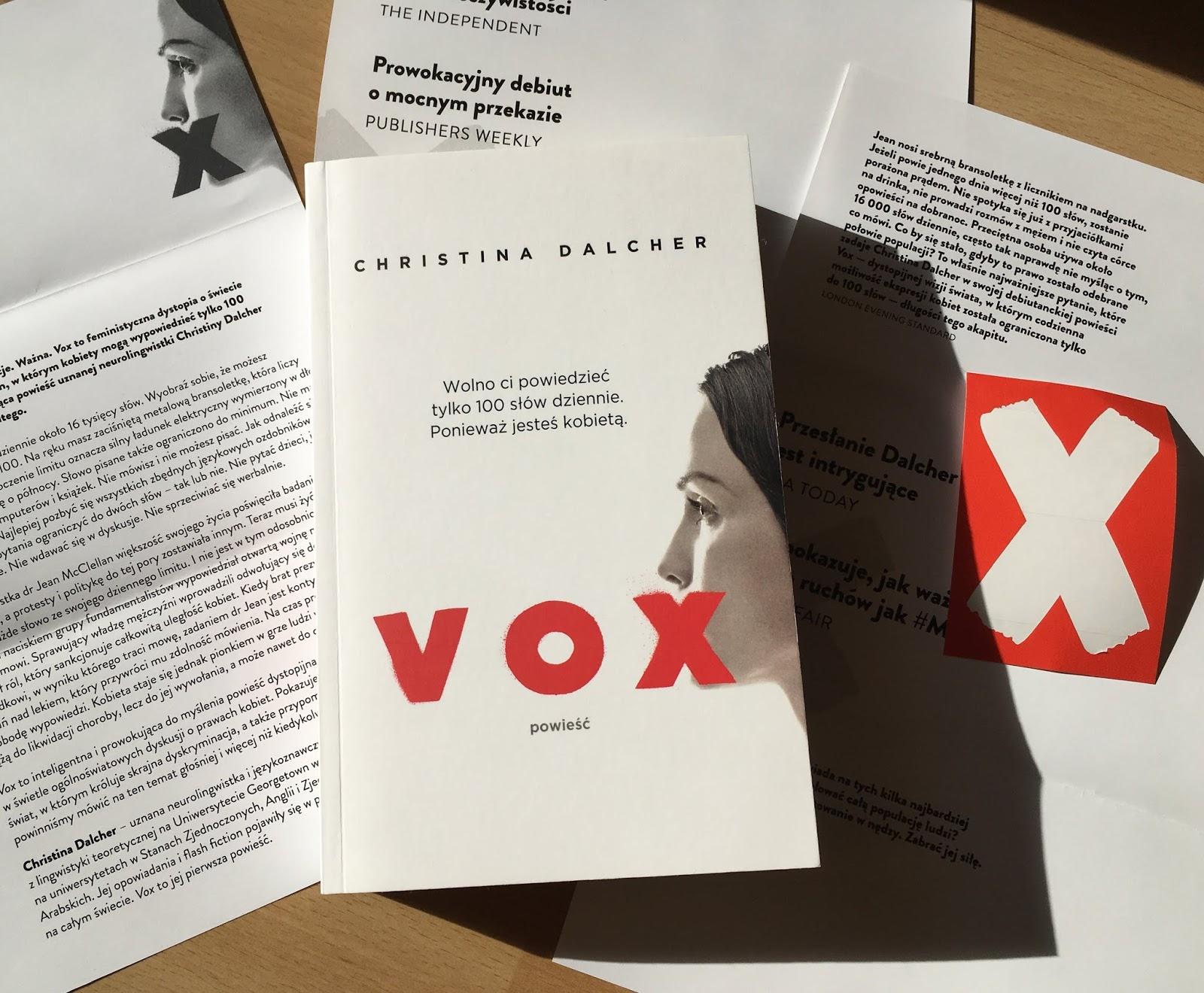 """Kobiety pozbawione głosu, czyli recenzja powieści """"Vox"""" Christiny Dalcher."""