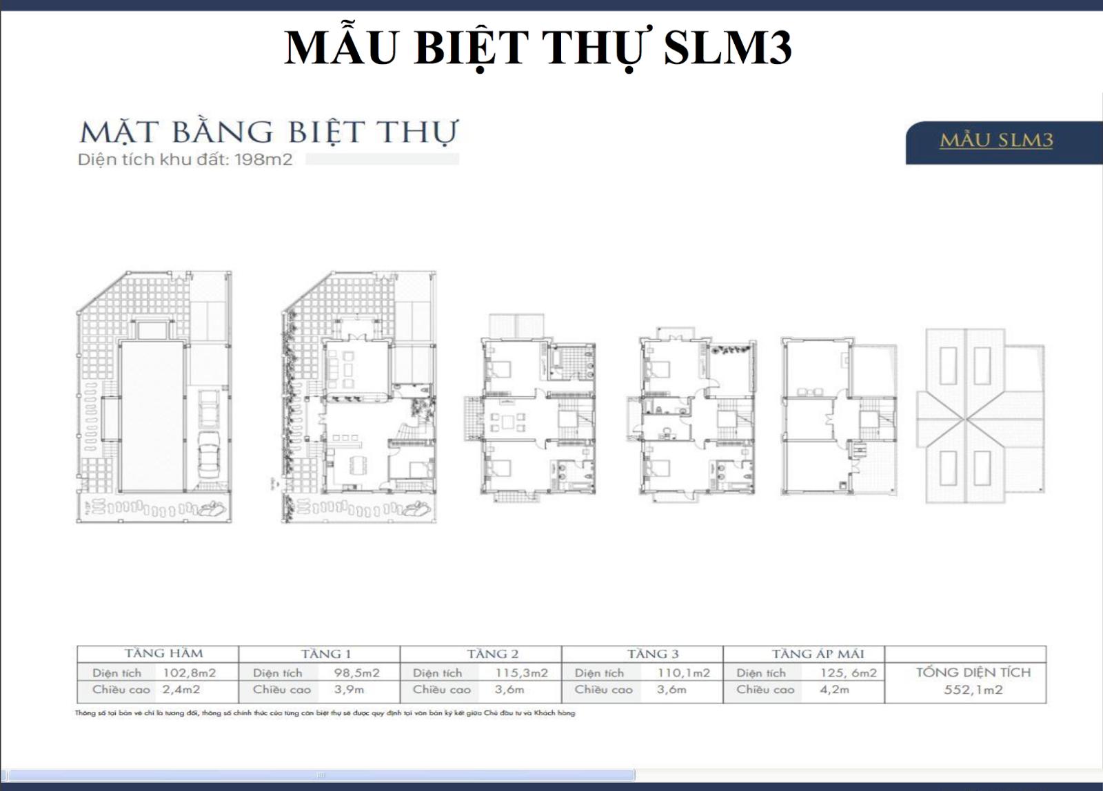 Mẫu biệt thự Dương Nội SLM3