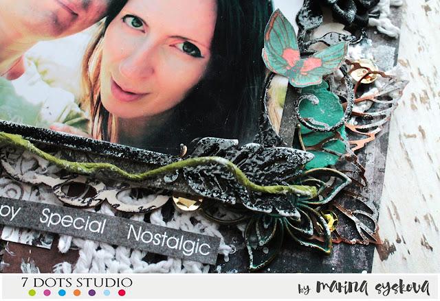 @marina.syskova #mixedmedia #scrap #scrapbooking #lo #layout  #7dotsstudio