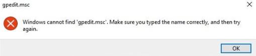 حل مشكلة عدم قدرة على فك ملف gpedit.msc