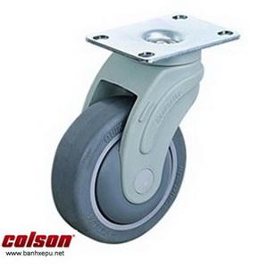 Bánh xe đẩy cao su xoay chịu tải trọng 100kg | STO-5856-448