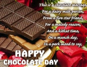 Happy chocolate day sms messages 2017