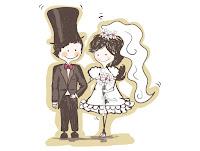 Noivinhos para convite de casamento vetor