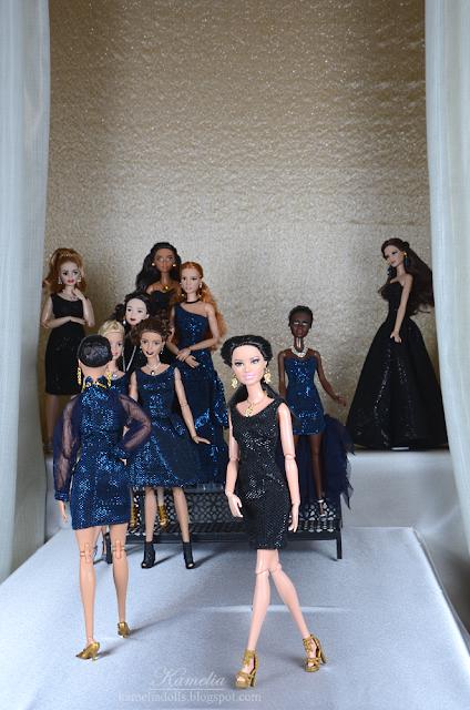 Handmade little black dress for Barbie doll