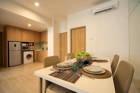 Hanson Court Suites 2BR - Kitchen Dining