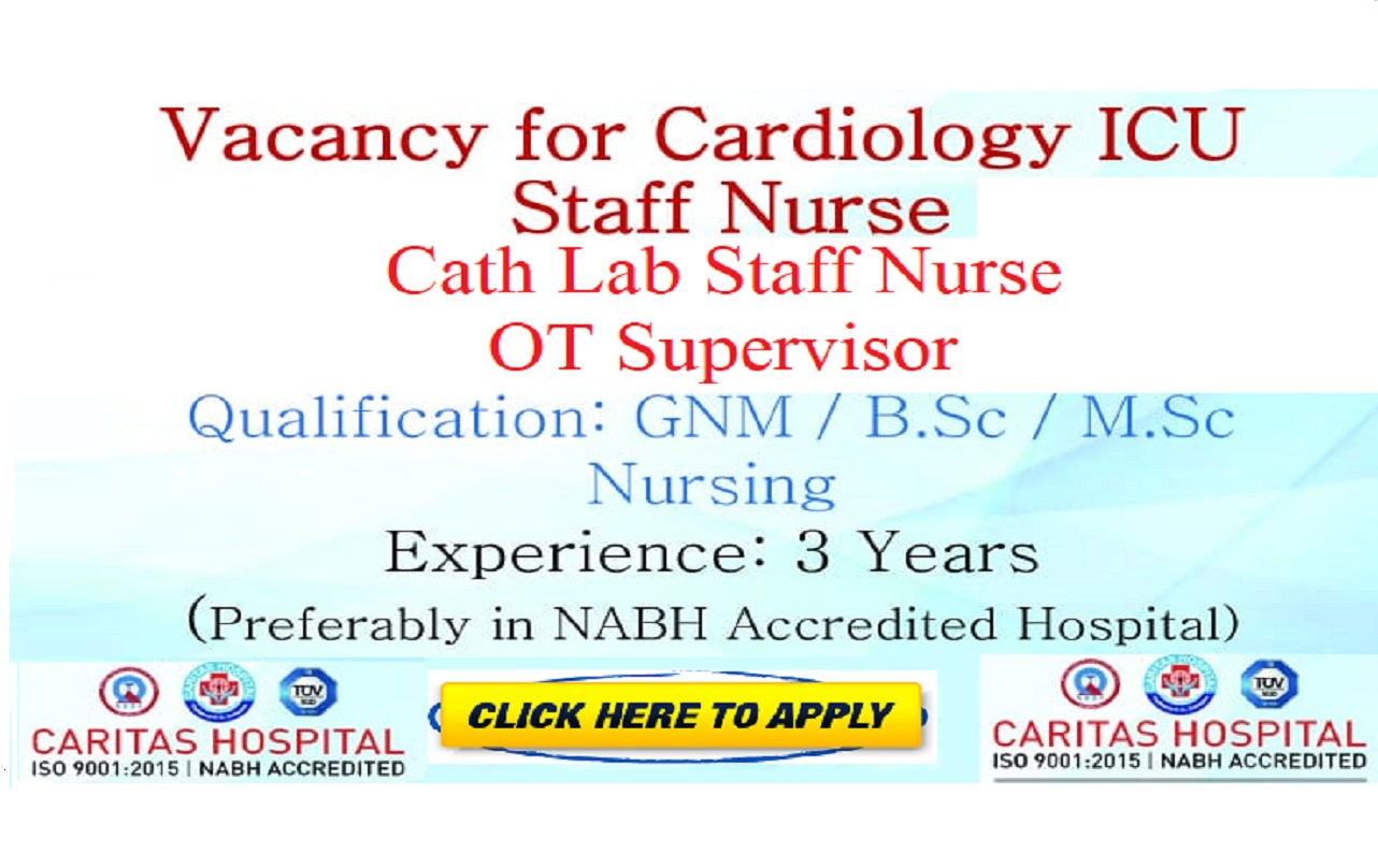 CARITHAS HOSPITAL STAFF NURSE RECRUITMENT APRIL 2019 - KOTTAYAM