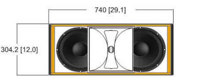 Tampak depan Speaker Line Array 10 Inch