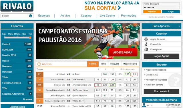 Rivalo - Considerada um dos melhores sites de apostas do mundo