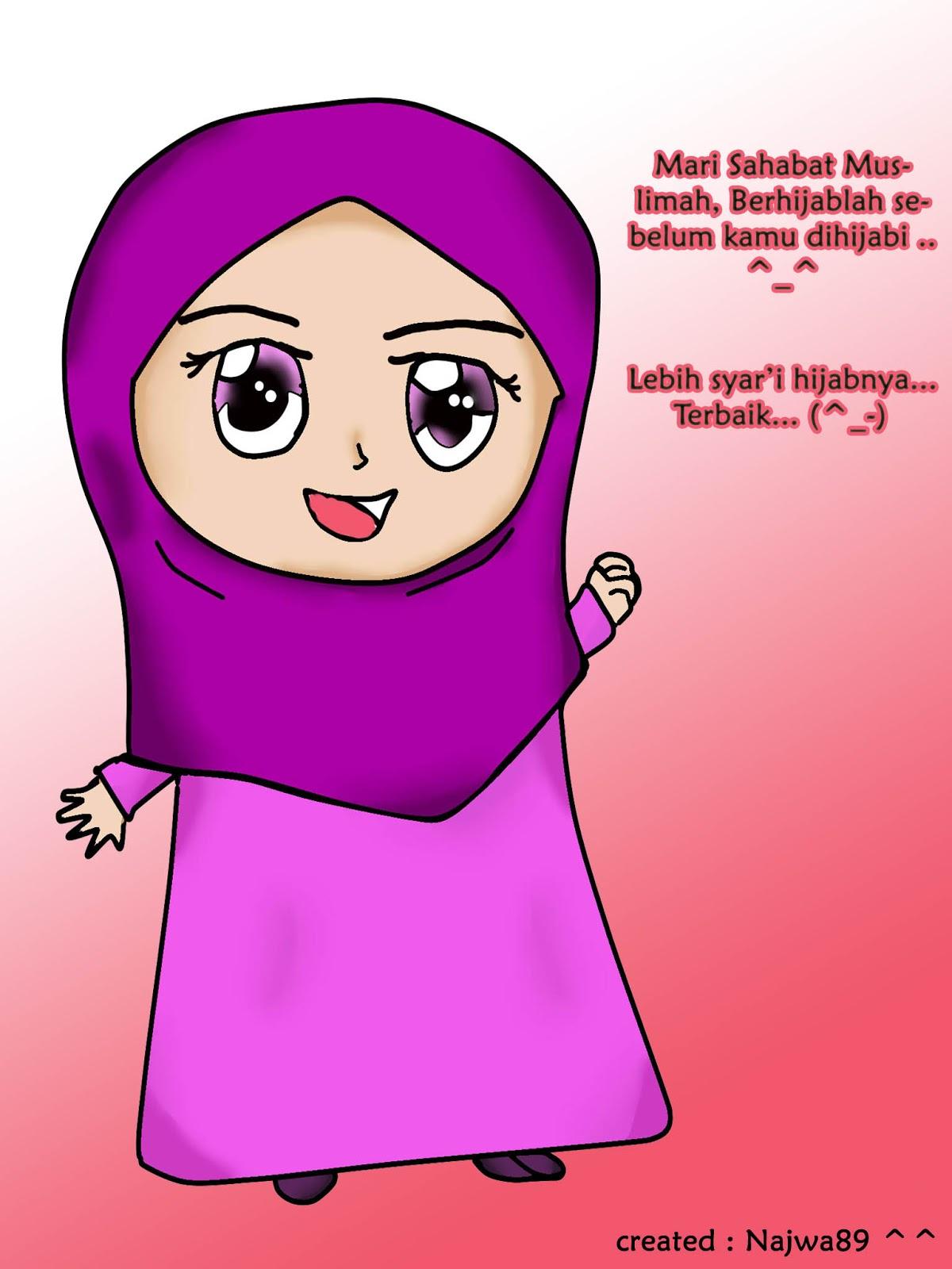 Gambar Kartun Muslimah Marah