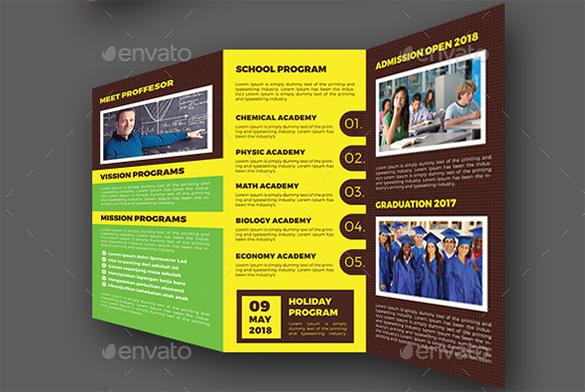 15 free school brochure psd templates bull share for High school brochure template