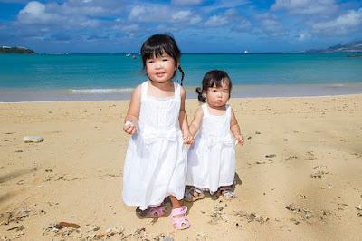 沖縄旅行ファミリービーチフォト