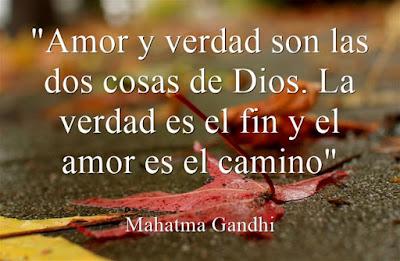 Amor, verdad y dios. Gandhi
